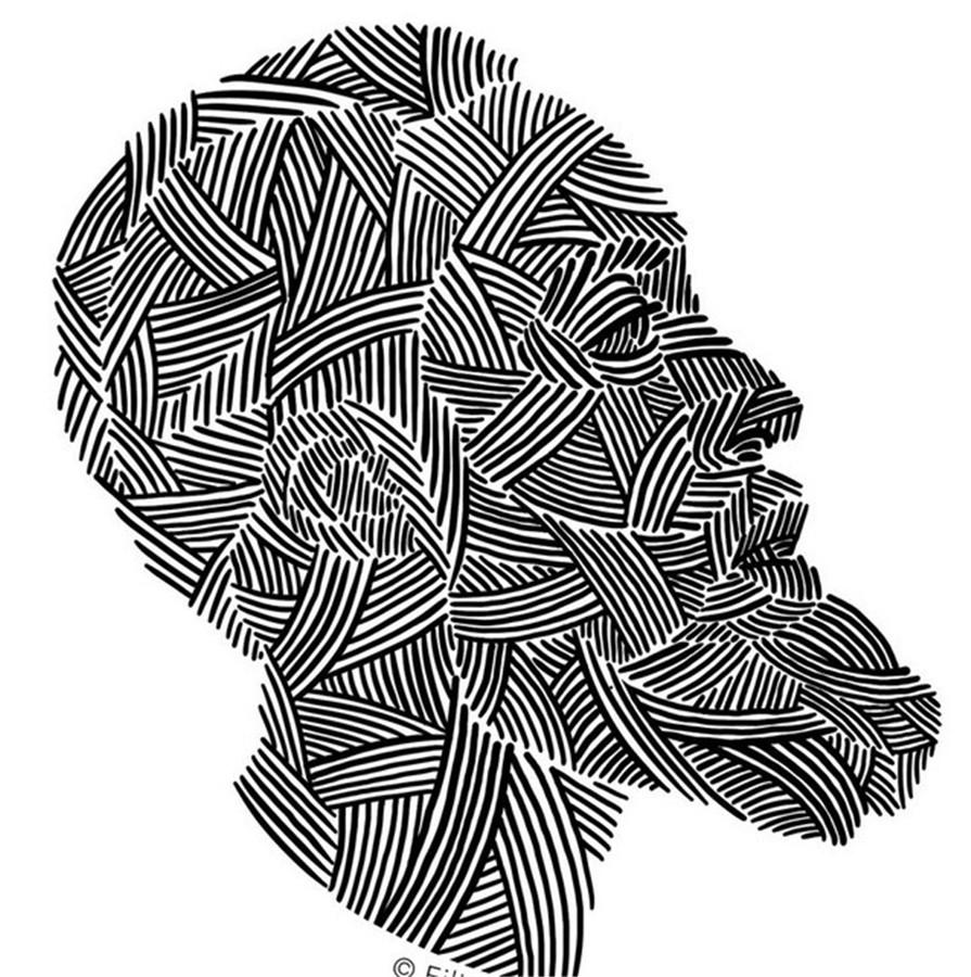 艺术家用哈登头像搞创作 展现多彩的大胡子图片