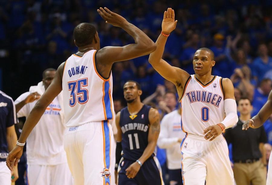 NBA季后赛首轮:灰熊86:100雷霆