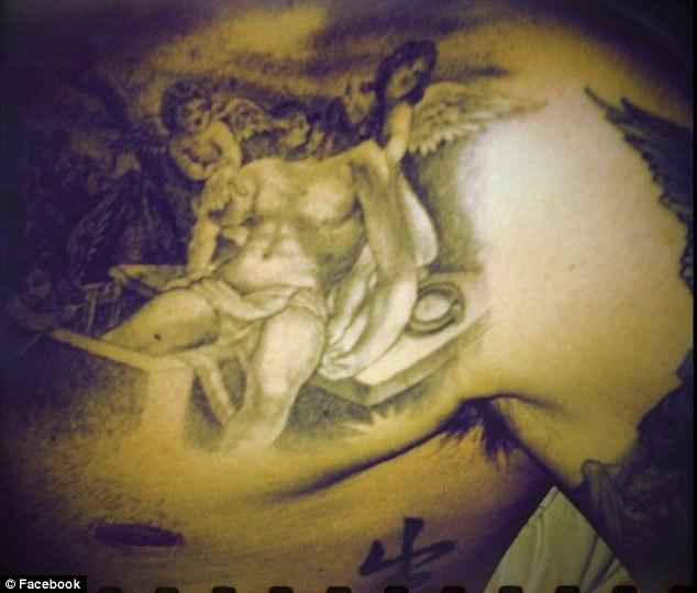 贝克汉姆耶稣纹身手稿分享展示图片