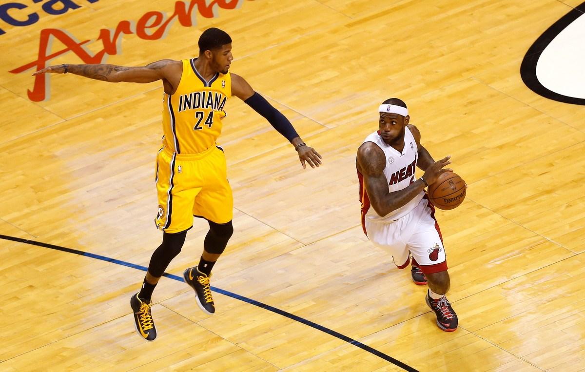 NBA东部决赛第二场:热火93-97步行者