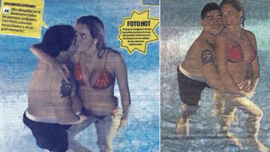 泳池交欢 抚女友私处