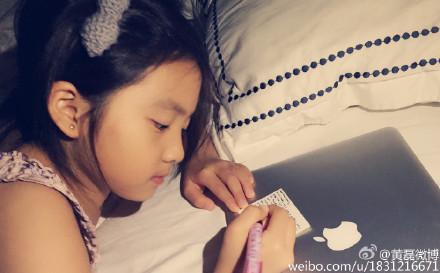 女儿为老师写英文卡片 黄磊:突然觉得好惭愧-老