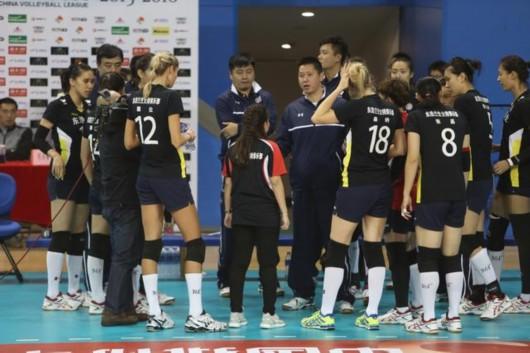 浩兰生女子排球俱乐部-上海女排缺个 诸韵颖 小组第三晋级八强 上海图片