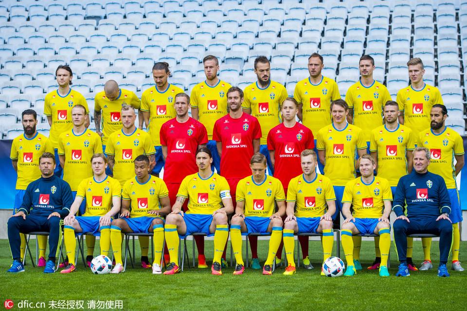 2016欧洲杯前瞻:各队全家福图片