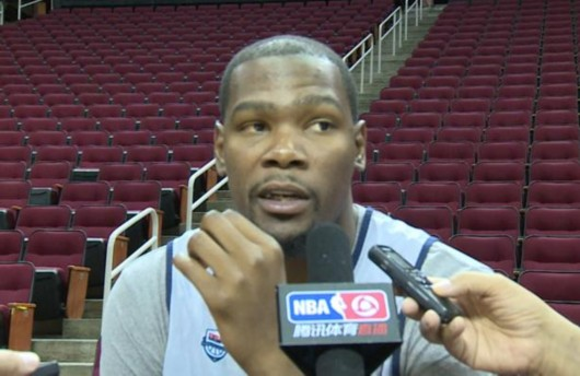 对话杜兰特:周琦会成为好球员 在NBA大有前途