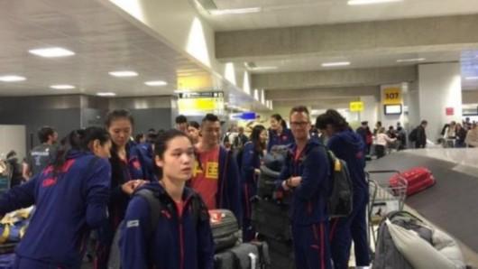 中国女排抵圣保罗开训
