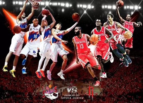 国赛之前的 中国赛 上海大鲨鱼受邀参加NBA季
