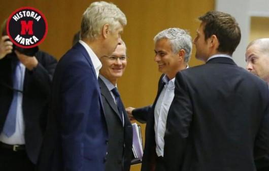 温格拒绝与穆里尼奥并肩而坐 媒体:百年战争