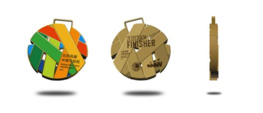 2016北京鸟巢半程马拉松赛完赛奖牌(拟)