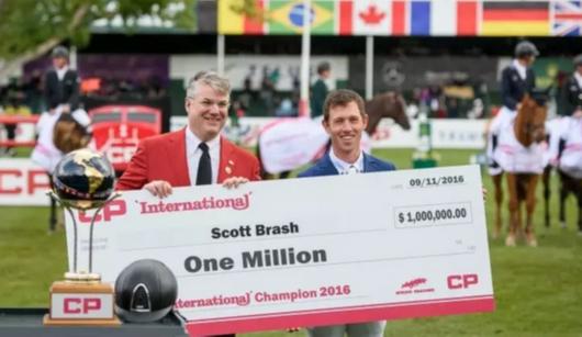 斯科特・布拉什收获100万美元冠军奖金