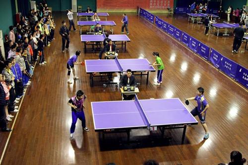 闵行区中小学生乒乓球比赛日前举行