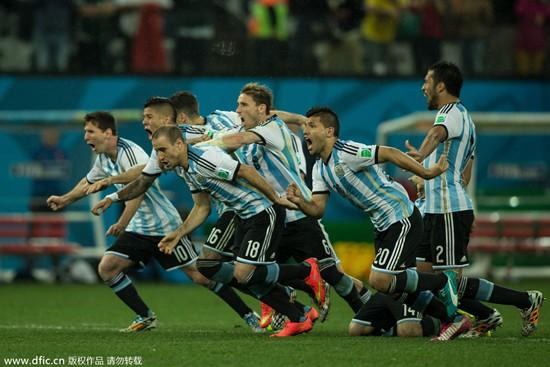 世界杯-阿根廷点球4-2淘汰荷兰 决赛与德国争冠
